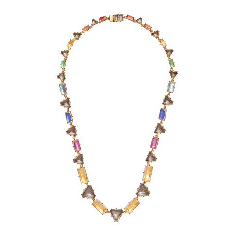 Caterina Geometric Riviere Necklace