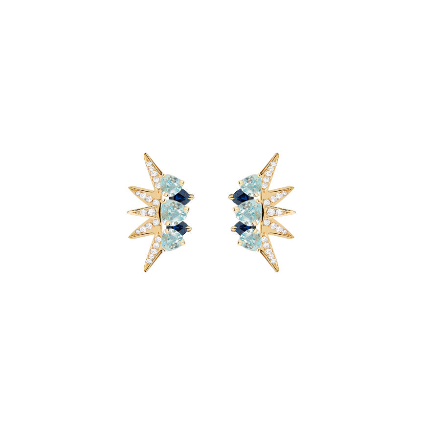 Topaz Electra Mini Earrings - Carol Kauffman - Earrings | Broken English Jewelry