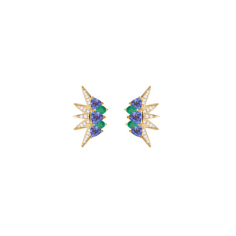 Tanzanite Electra Mini Earrings - Carol Kauffman - Earrings | Broken English Jewelry