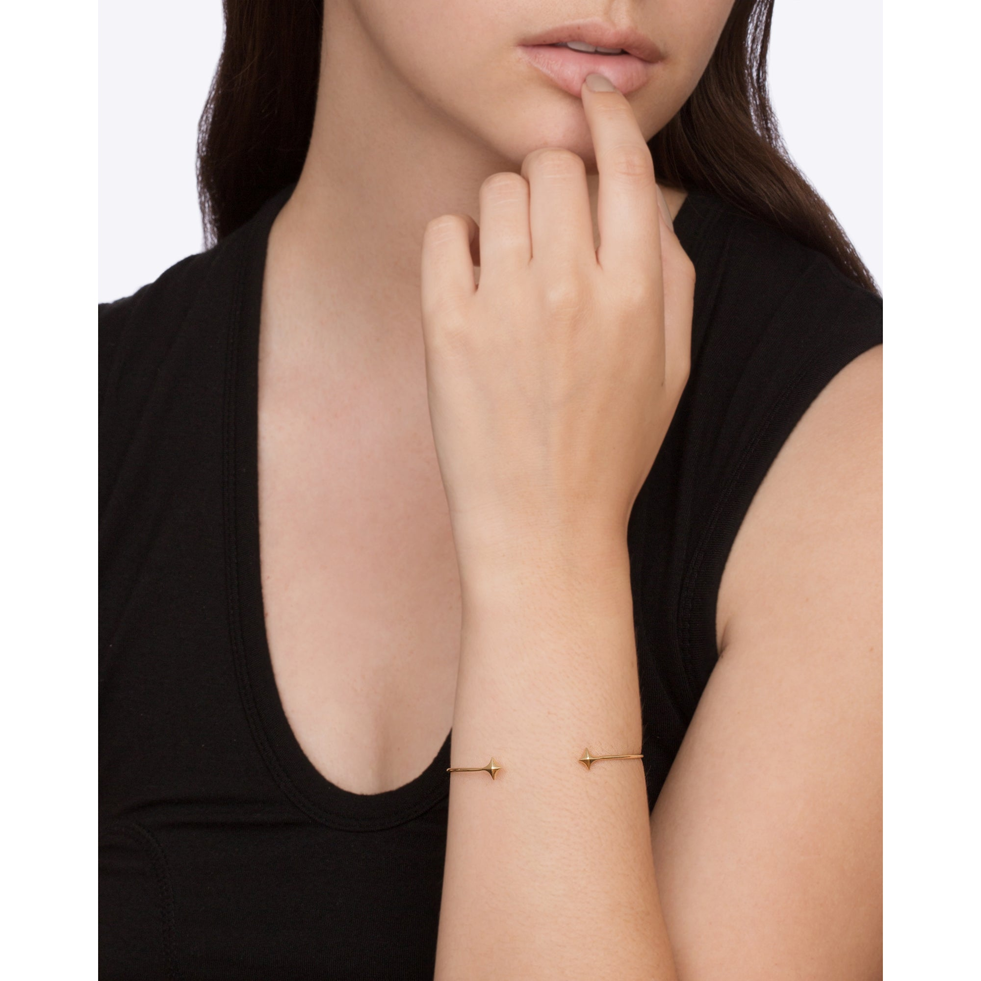 Gold Estrella Cuff by Michelle Fantaci for Broken English Jewelry