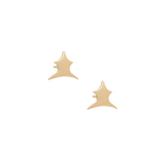Gold Pawn Studs by Michelle Fantaci for Broken English Jewelry