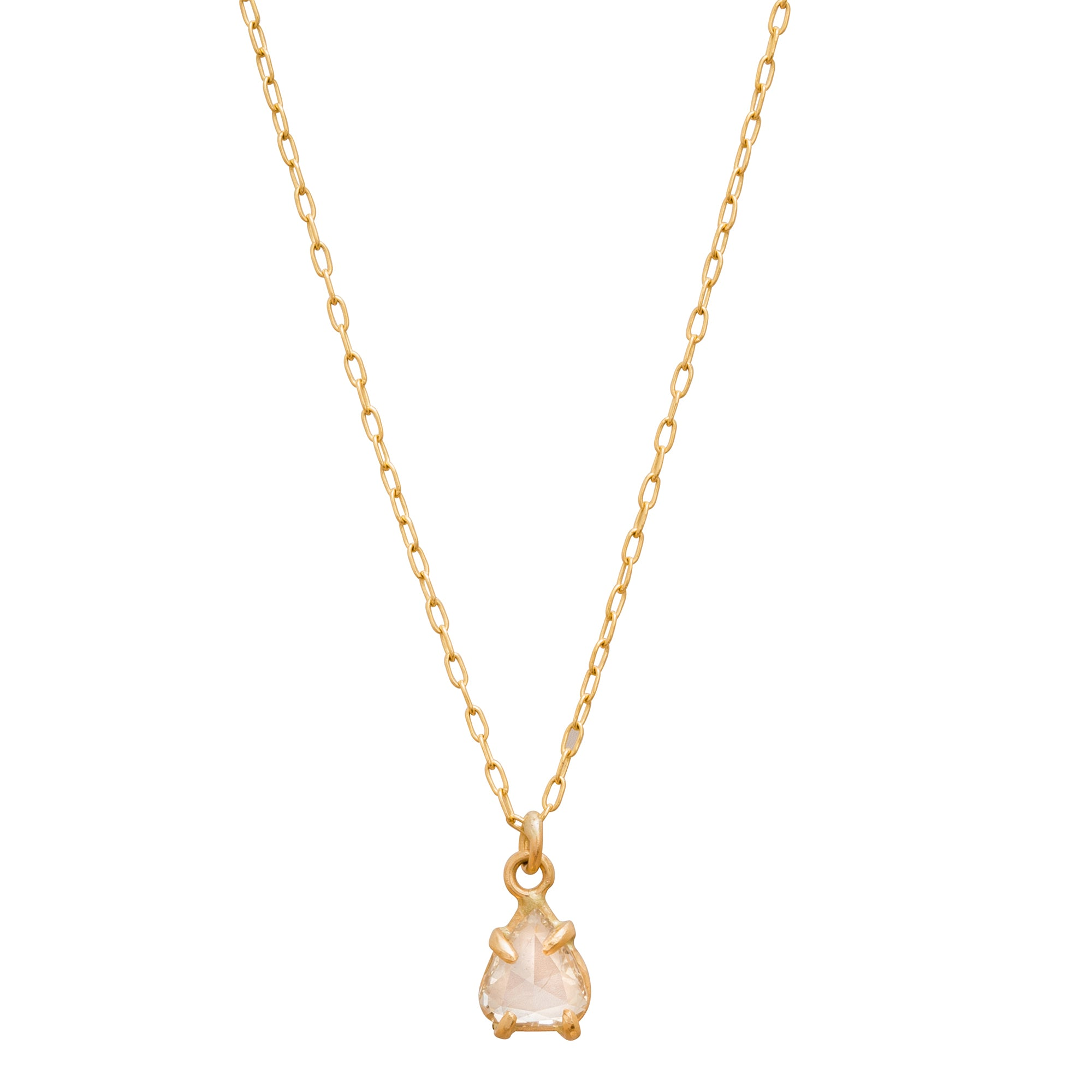 Rosecut Diamond Necklace by Margery Hirschey for Broken English Jewelry