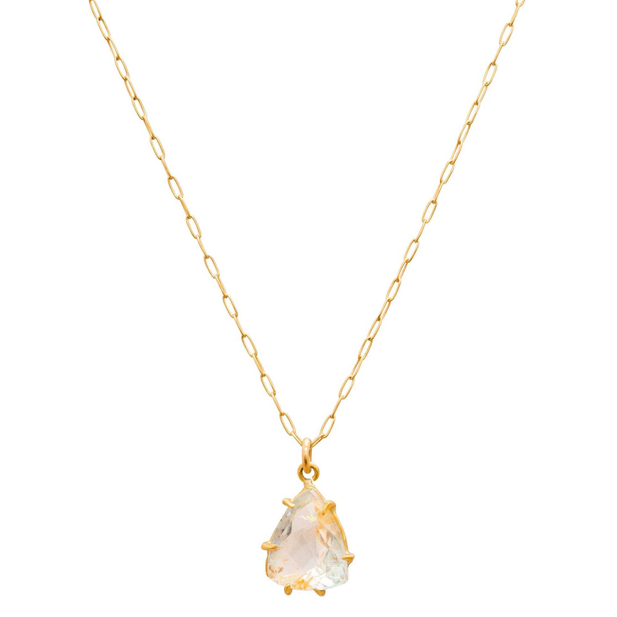 Rutilated Topaz Necklace by Margery Hirschey for Broken English Jewelry