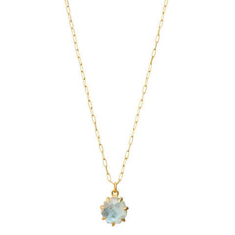 Aquamarine Necklace by Margery Hirschey for Broken English Jewelry