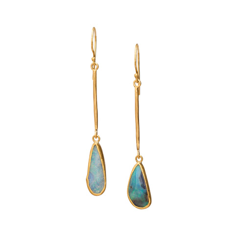 Boulder Opal Earrings by Margery Hirschey for Broken English Jewelry