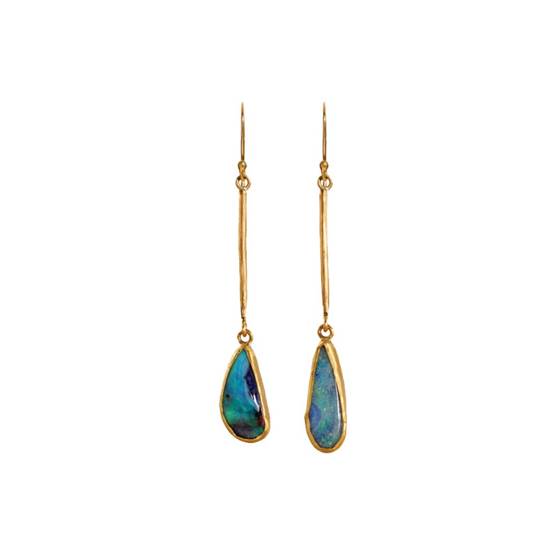 Margery Hirschey Boulder Opal Earrings - Earrings - Broken English Jewelry