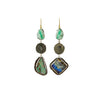 Ancient Roman Emerald and Opal Earrings - Margery Hirschey - Earrings  | Broken English Jewelry
