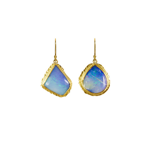 Boulder Opal Drop Earrings - Margery Hirschey - Earrings  | Broken English Jewelry