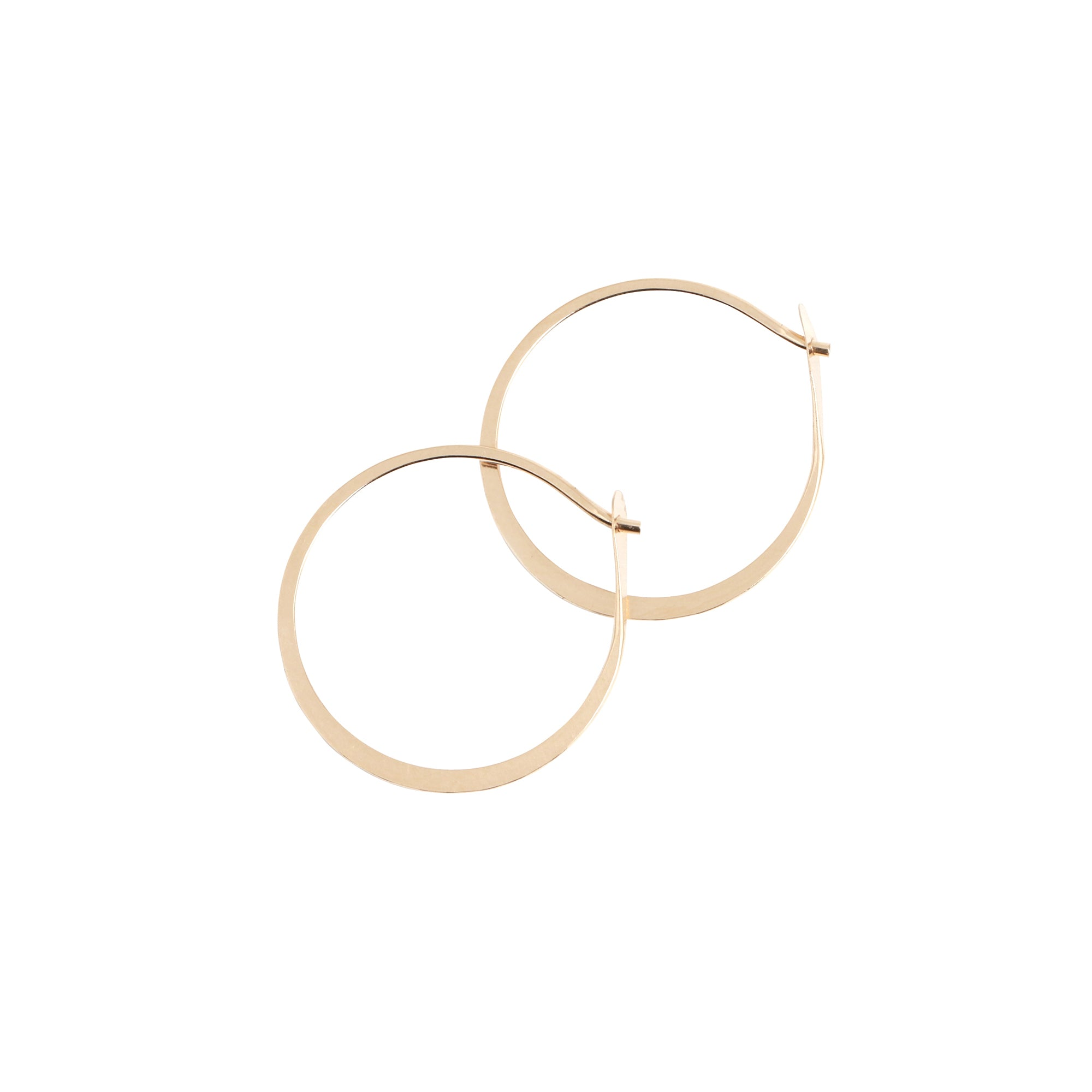 Melissa Joy Manning Round Hoops - Gold (M) - Earrings - Broken English Jewelry