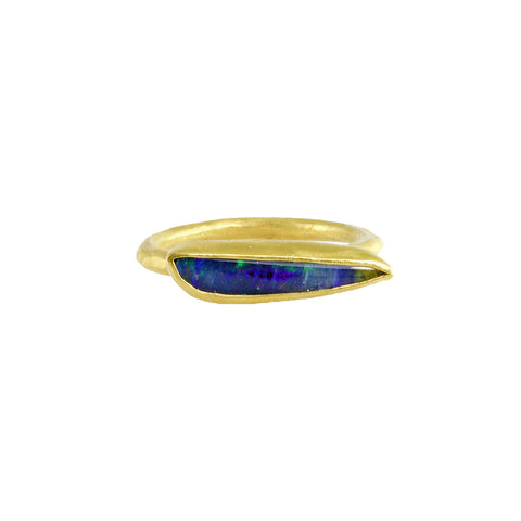 Small Boulder Opal Bull Ring - Margery Hirschey - Rings | Broken English Jewelry