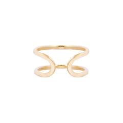 Gold Double Open Back Ring by Melissa Joy Manning for Broken English Jewelry