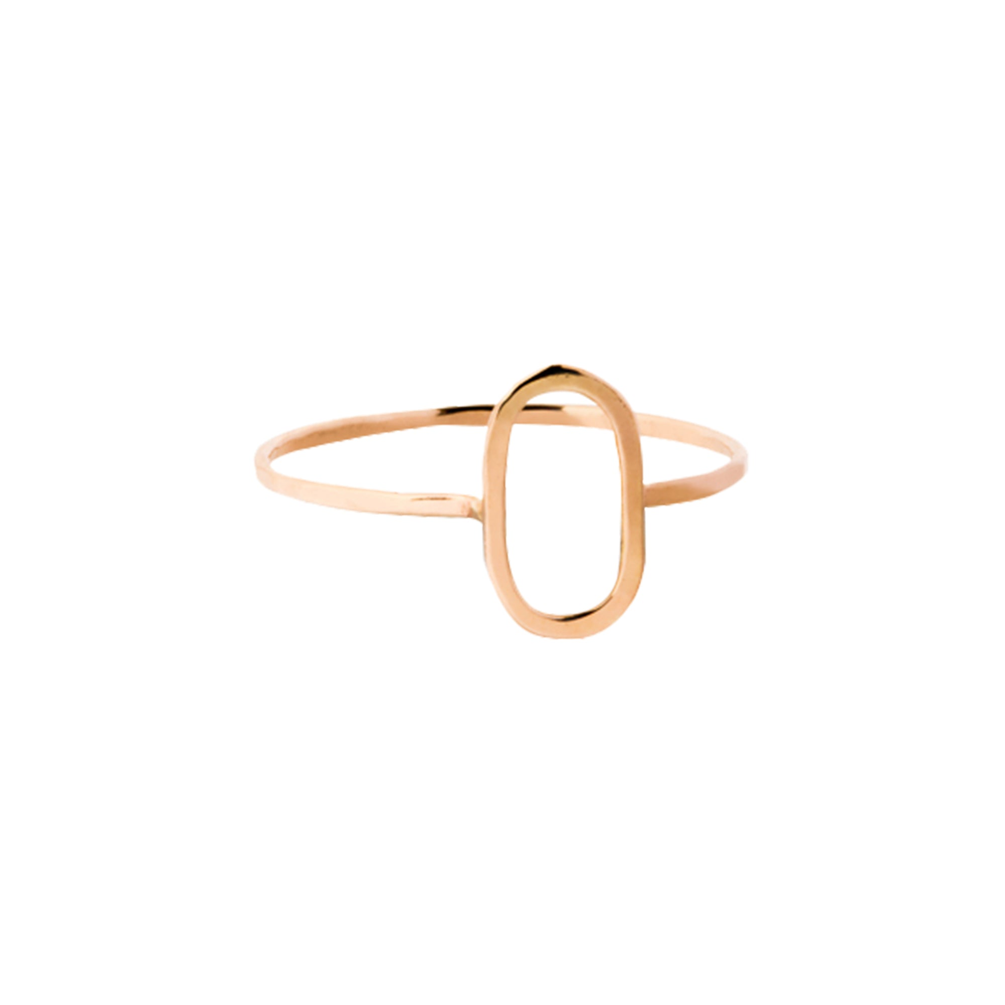 Gold Oval Ring by Melissa Joy Manning for Broken English Jewelry