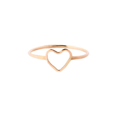 Gold Heart Ring by Melissa Joy Manning for Broken English Jewelry