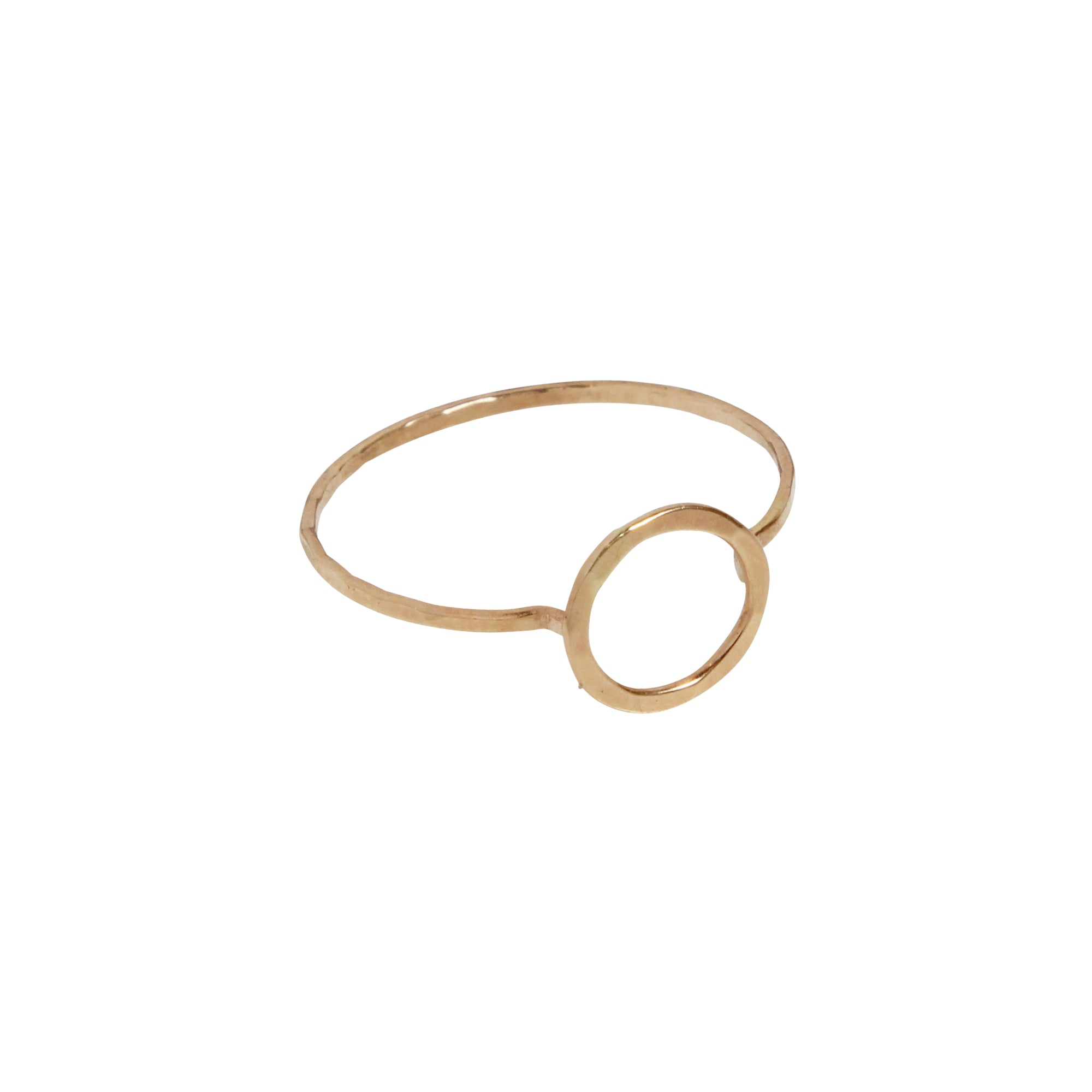 gold Circle Ring by Melissa joy manning for broken English jewelry
