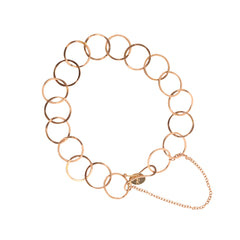 Gold Handmade Round Link Bracelet by Melissa Joy Manning for Broken English Jewelry