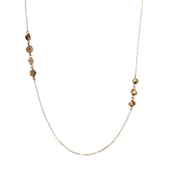 Gold Herkimer Diamond Chain Necklace by Melissa Joy Manning for Broken English Jewelry