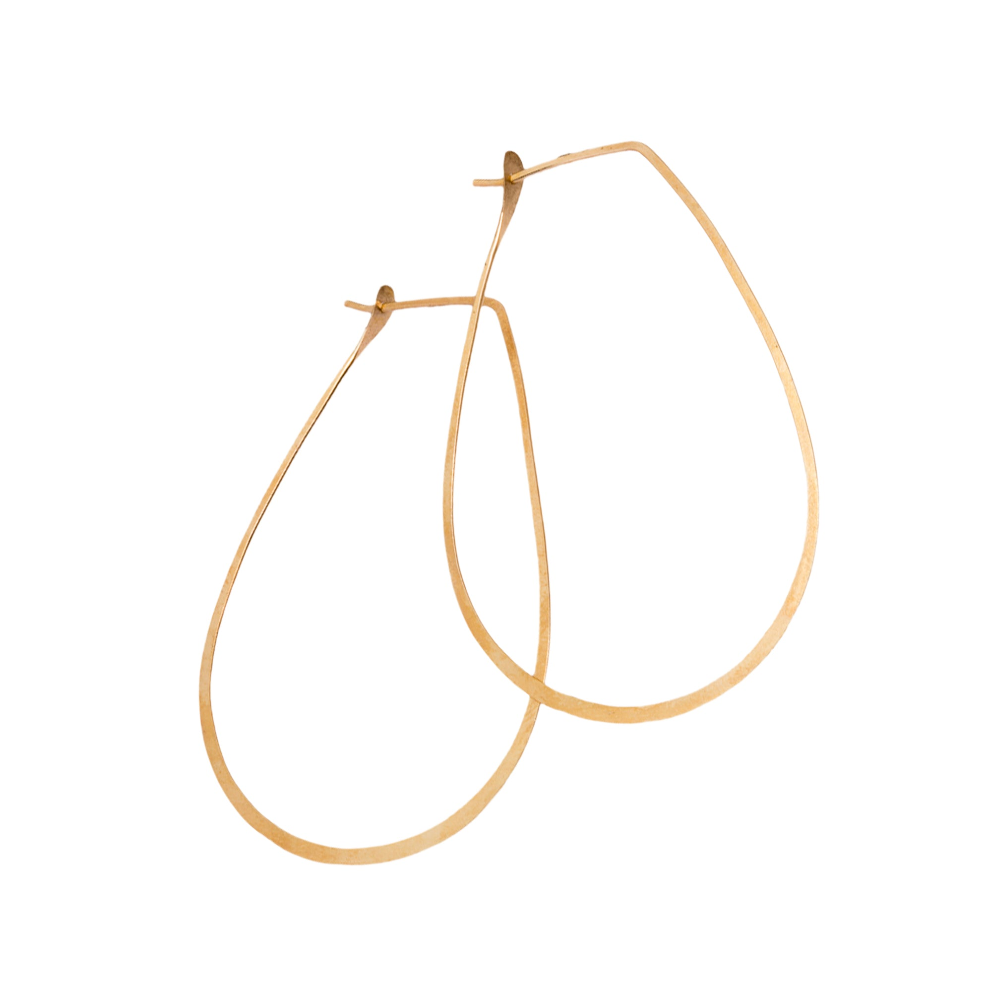 Gold Teardrop Hoop by Melissa Joy Manning for Broken English Jewelry