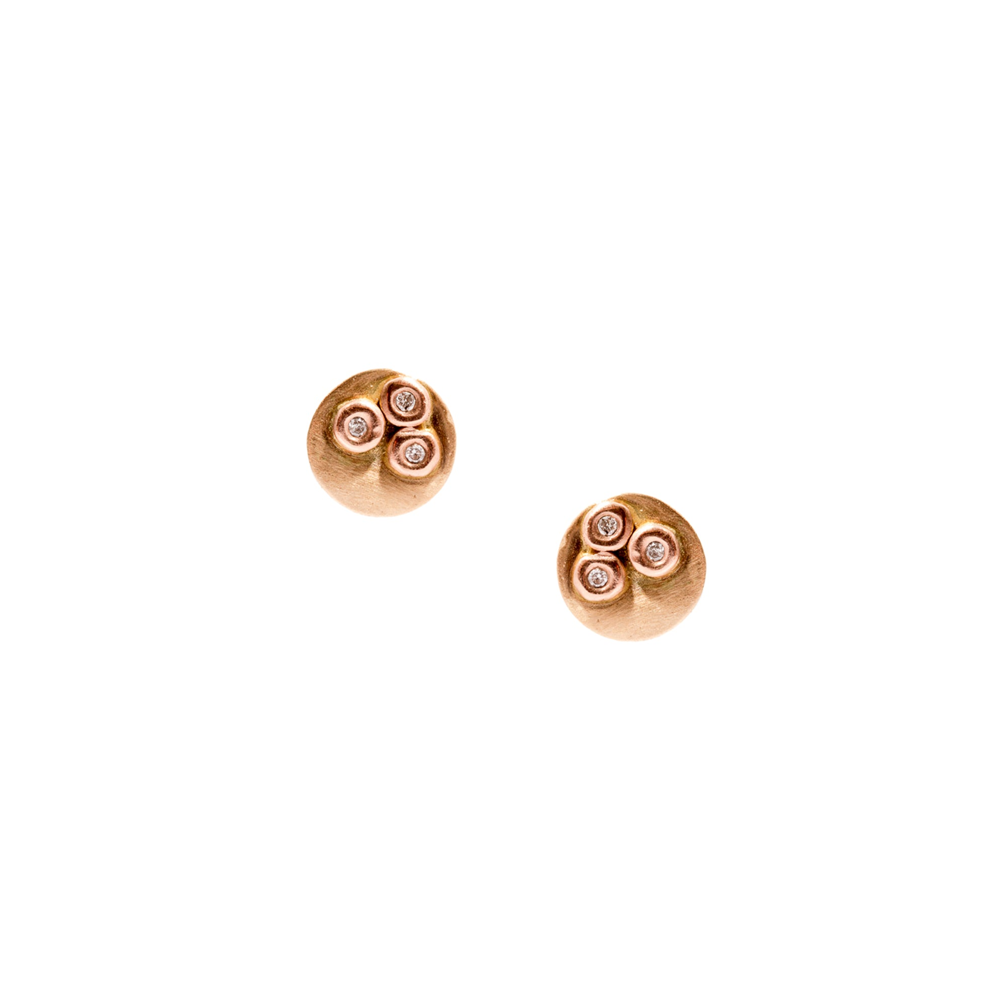 Circle Triple Diamond Earring