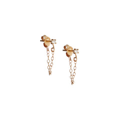 Pearl Post Chain Earring