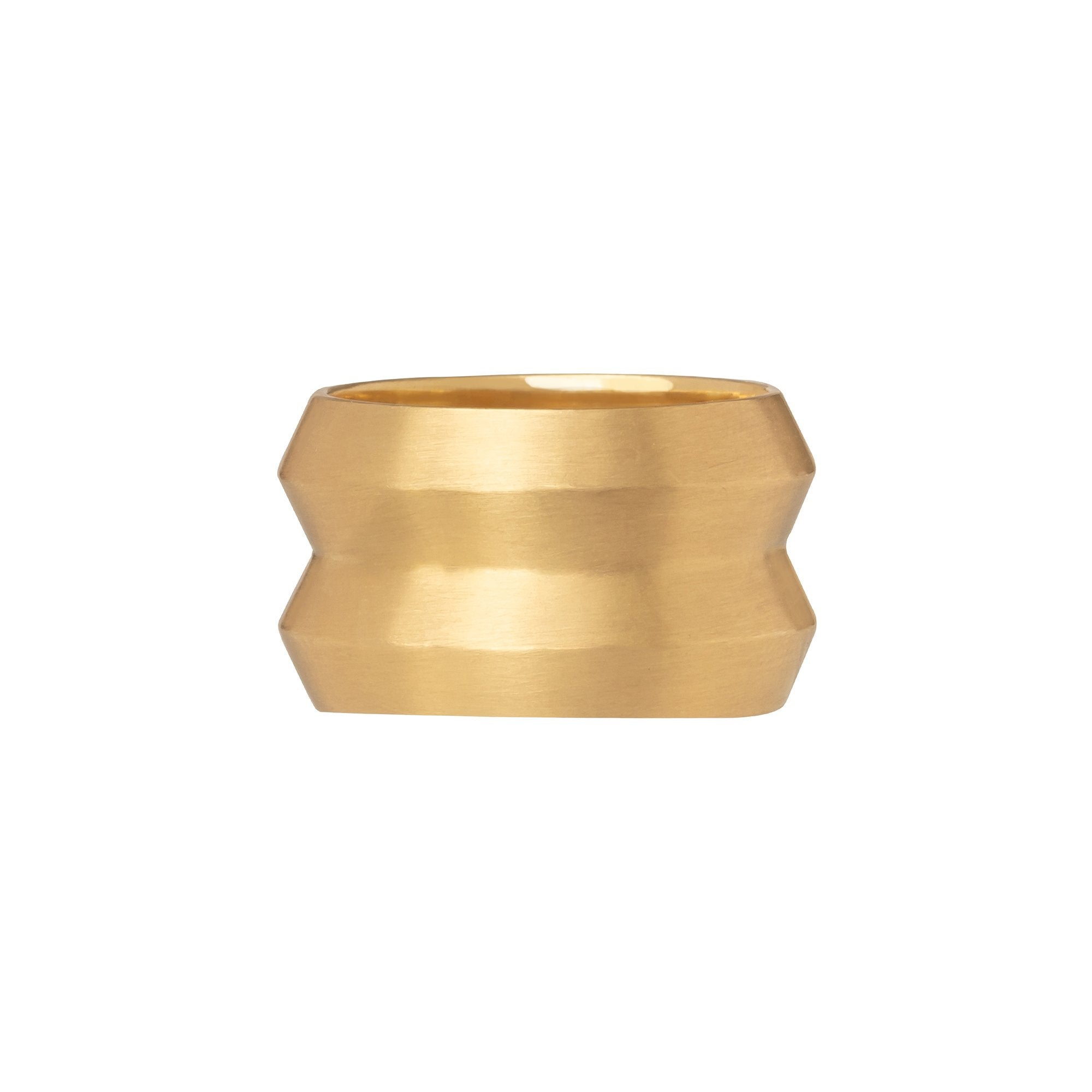 Gold Bevel Ring - Marisa Klass - Rings | Broken English Jewelry