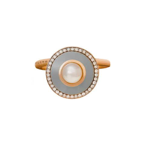 Diamond and Grey Enamel Ring - Selim Mouzannar - Rings | Broken English Jewelry