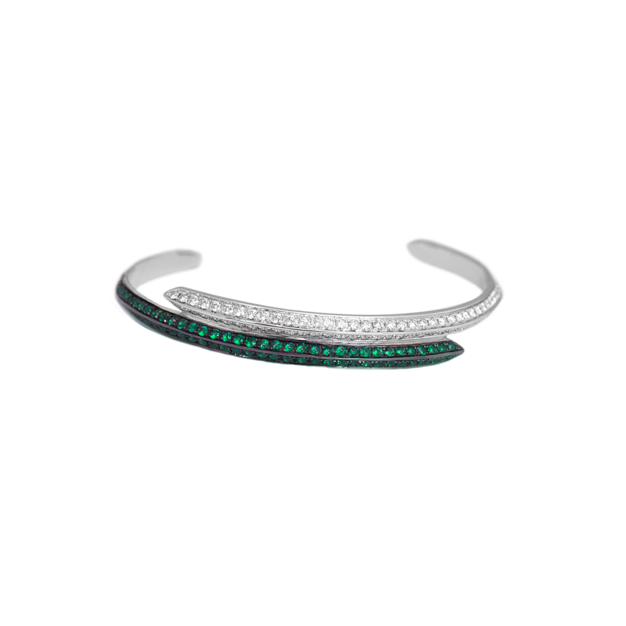 Ralph Masri Modernist Emerald Bracelet - Bracelets - Broken English Jewelry