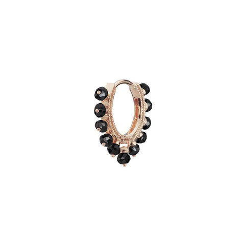 8mm Black Diamond Coronet Clicker Hoop by Maria Tash for Broken English Jewelry