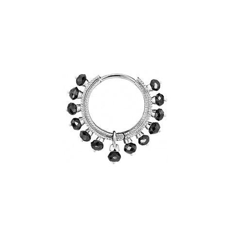 9.5mm Black Diamond Coronet by Maria Tash for Broken English Jewelry