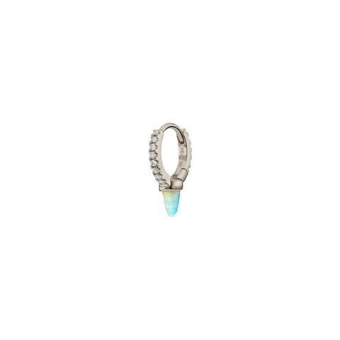 6.5mm Opal & Diamond Clicker by Maria Tash for Broken English Jewelry