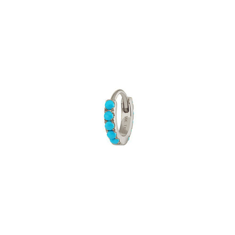 6.5mm Turquoise Hoop by Maria Tash for Broken English Jewelry
