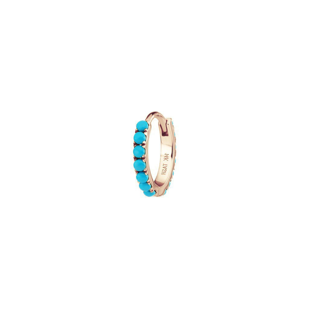 8mm Turquoise Hoop by Maria Tash for Broken English Jewelry