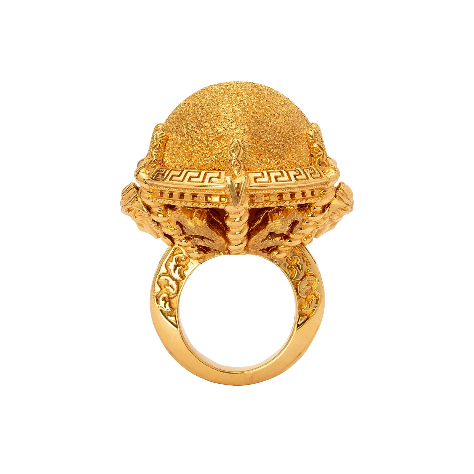 Antique & Vintage Jewelry Versace Medusa Globe Ring - Rings - Broken English Jewelry