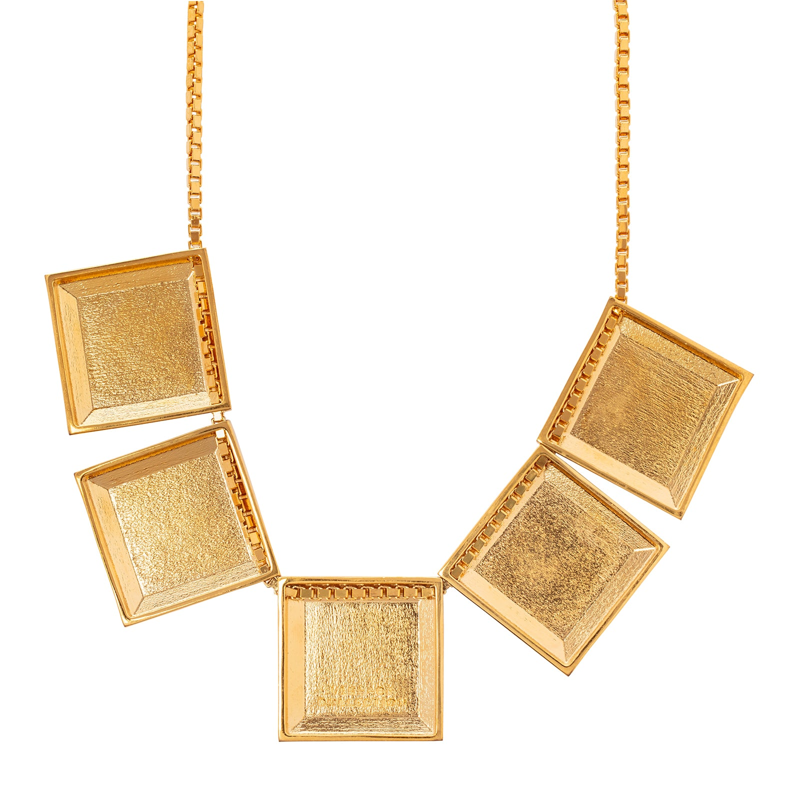 Antique & Vintage Jewelry Versace Medusa Square Plate Necklace - Necklaces - Broken English Jewelry