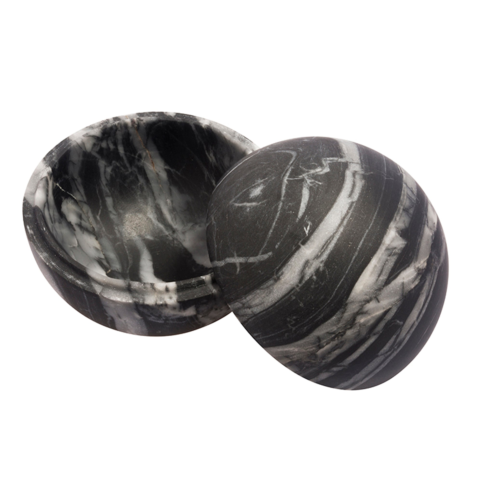 Small Grey Marble Sphere Box