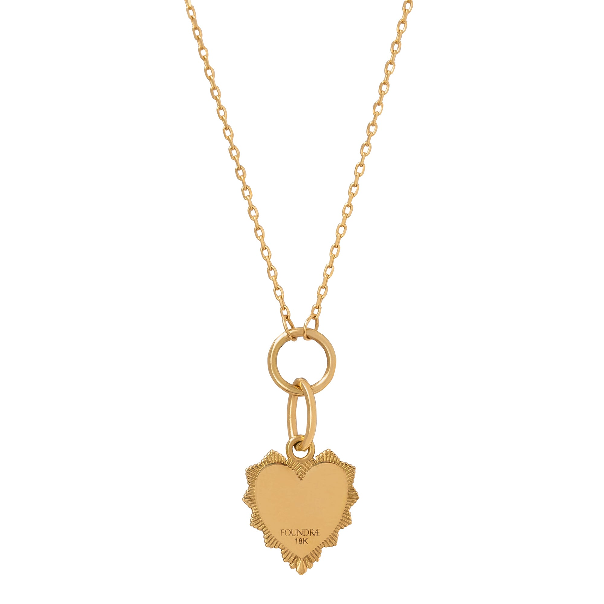 Love Token Drop Necklace - Foundrae - Necklaces | Broken English Jewelry