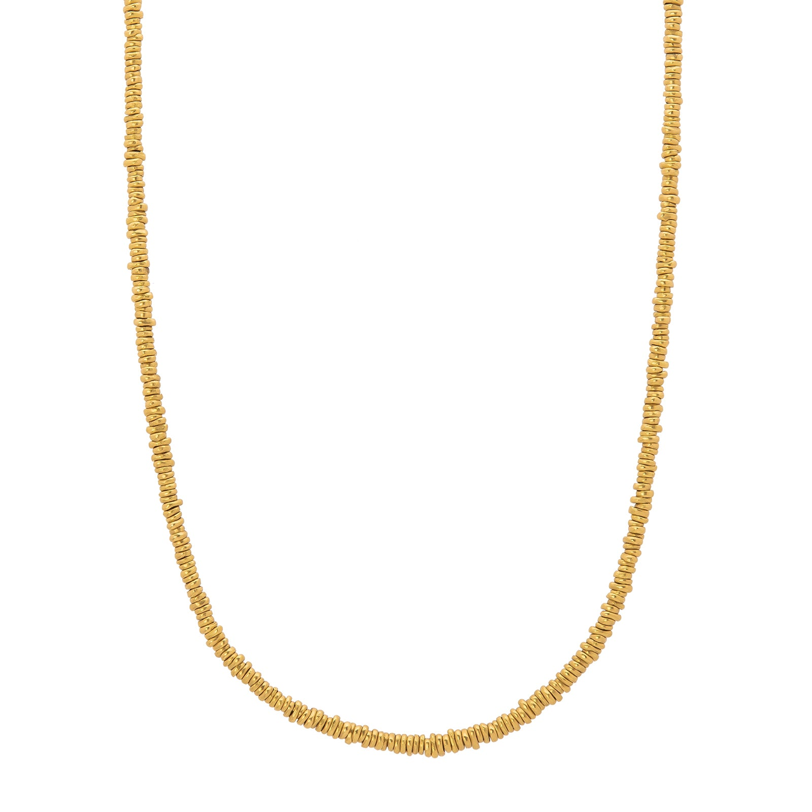 "Eli Halili Gold Nugget & Leather Necklace - 31"" - Necklaces - Broken English Jewelry"