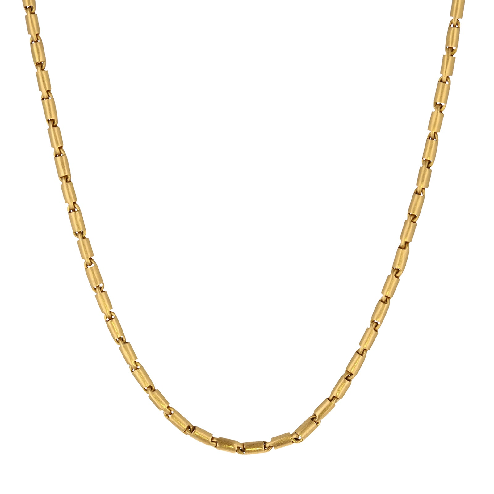 Eli Halili Cartouche Gold Bar Links Necklace - Necklaces - Broken English Jewelry