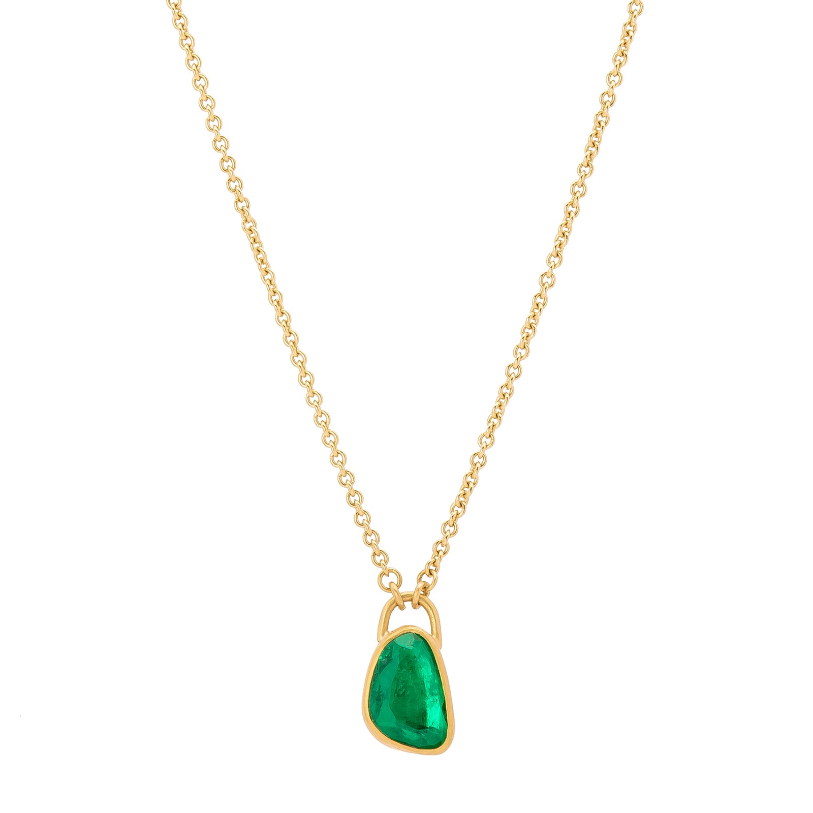 Eli Halili Pendant Necklace - Emerald - Necklaces - Broken English Jewelry