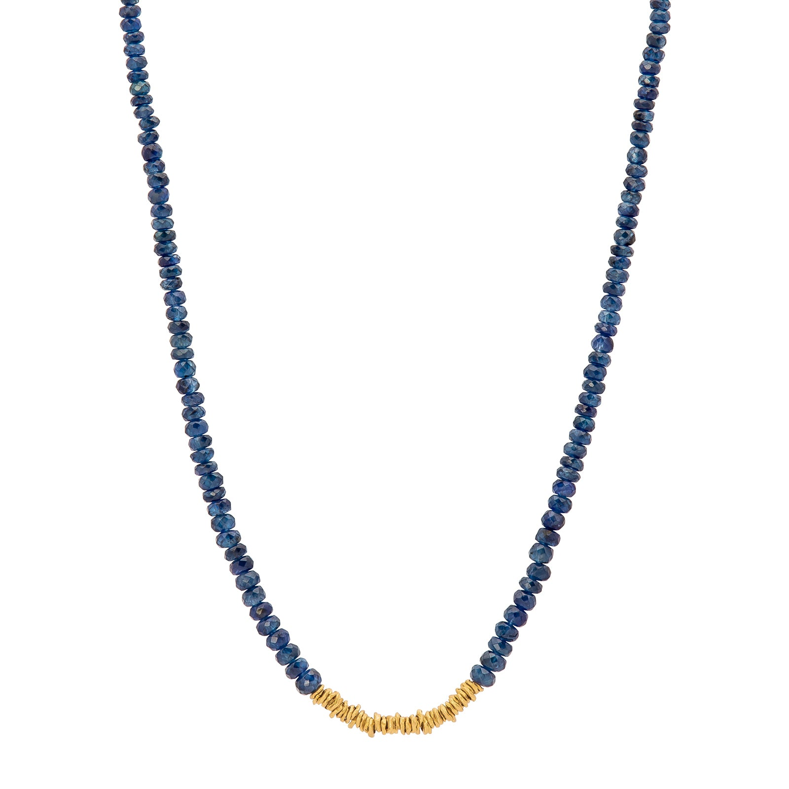 Eli Halili Bead Necklace - Blue Sapphire - Necklaces - Broken English Jewelry