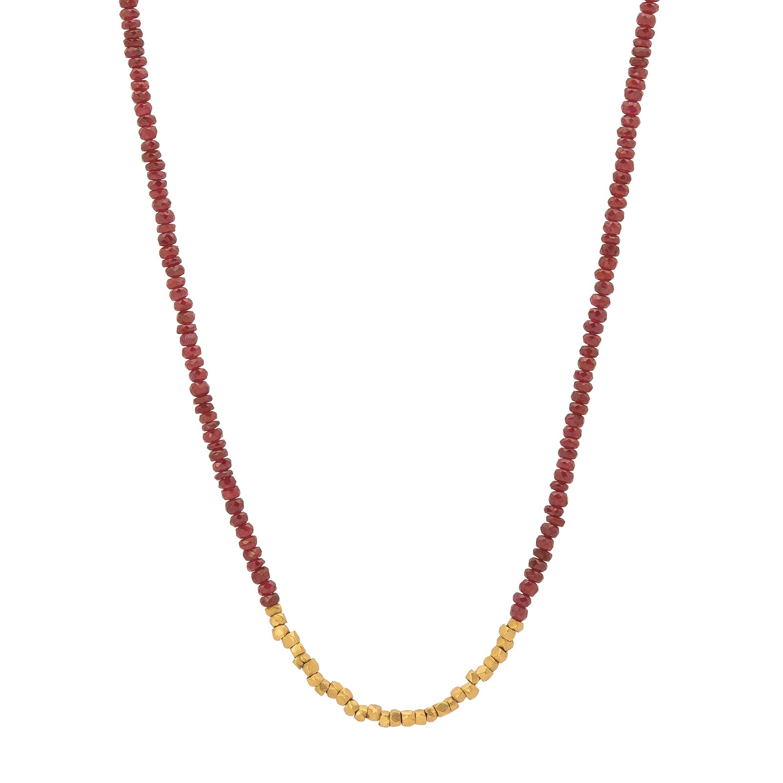 Eli Halili Bead Necklace - Ruby - Necklaces - Broken English Jewelry