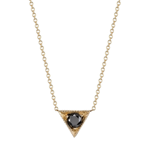 Black Diamond Necklace by Lizzie Mandler for Broken English Jewelry