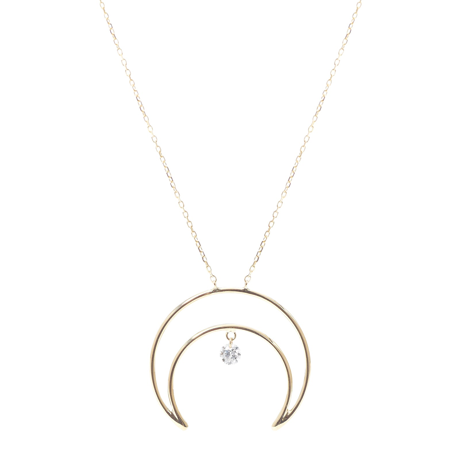 Persée Paris Moon Diamond Necklace - Necklaces - Broken English Jewelry