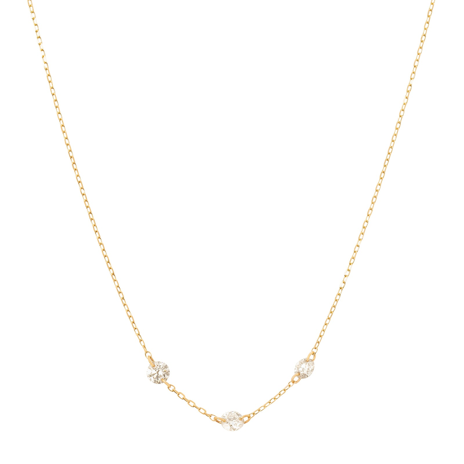 Persée Paris Danaé Trio Diamond Necklace - Necklaces - Broken English Jewelry