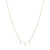 Persée Paris Danaé Trio Hanging Diamond Necklace - Yellow Gold - Necklaces - Broken English Jewelry
