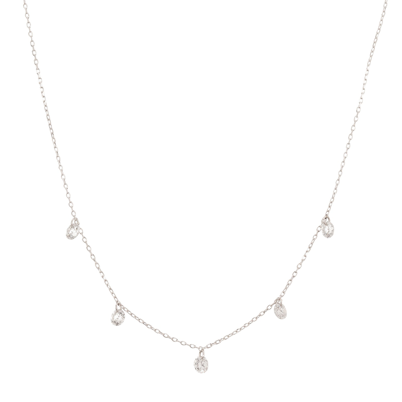 Persée Paris Danaé Five Hanging Diamond Necklace - Necklaces - Broken English Jewelry