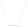 Persée Paris Pave Diamond Bar Necklace - Necklaces - Broken English Jewelry