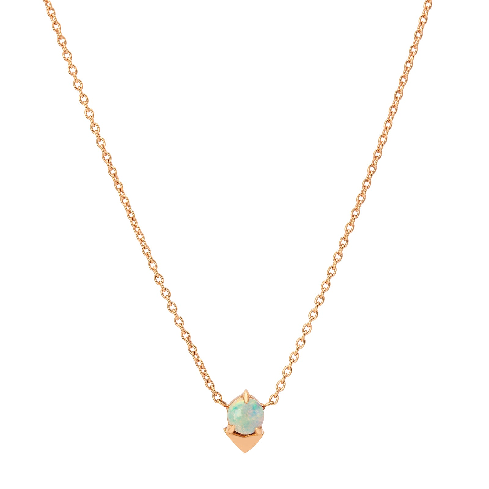 Lizzie Mandler Opal Spike Necklace - Necklaces - Broken English Jewelry