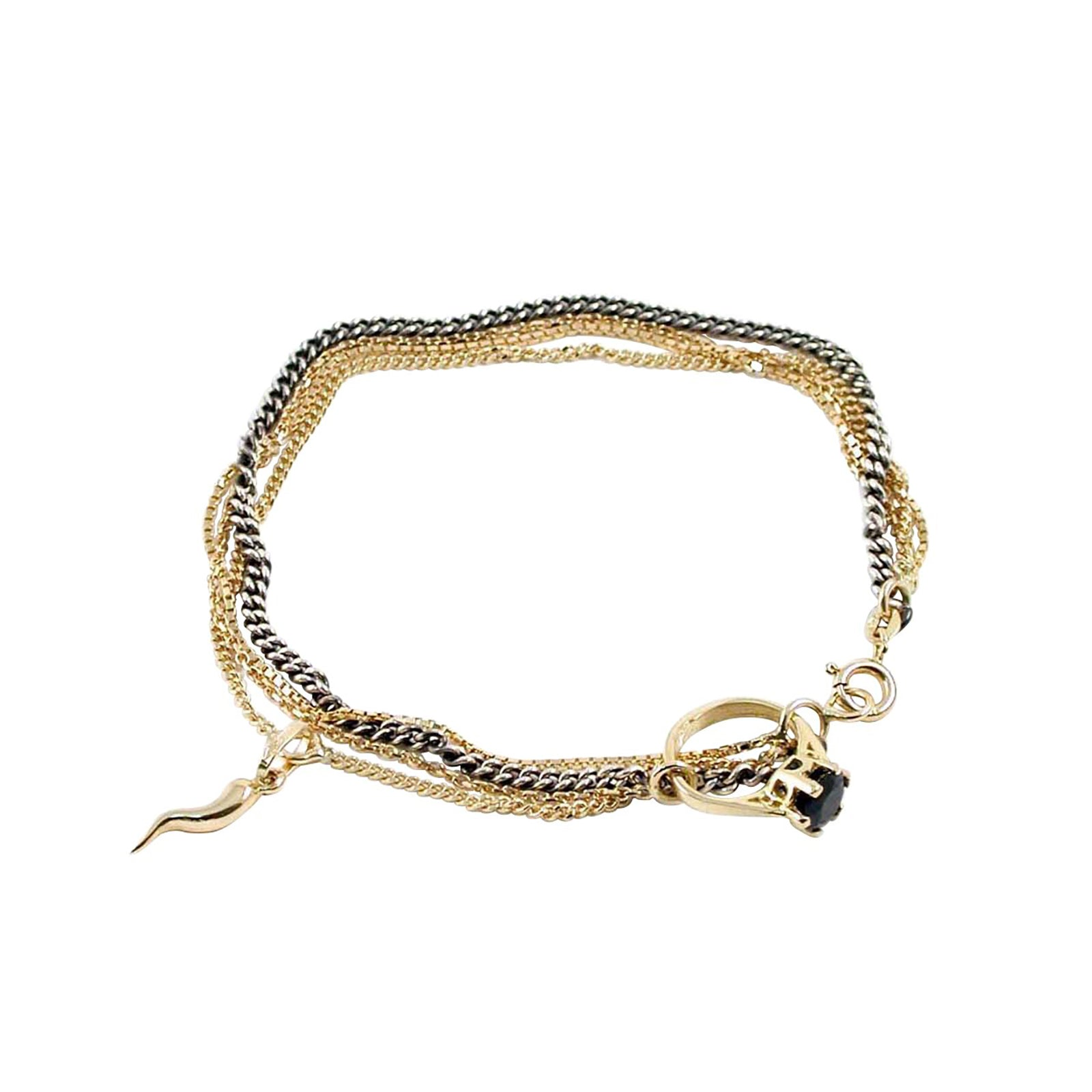 Bracelet with Horn and Charm - Ioselliani - Bracelets | Broken English Jewelry