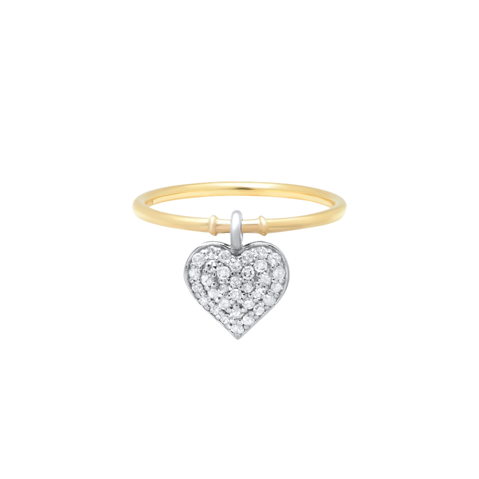 Double Sided Heart Charm Ring