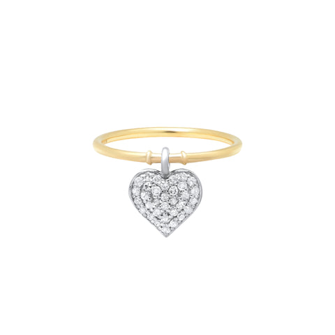Nancy Newberg Heart Charm Ring - Rings - Broken English Jewelry